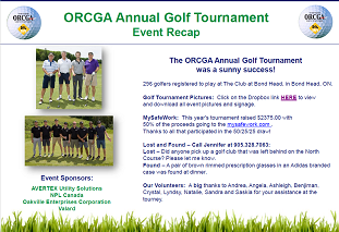 ORCGA Annual Golf Tournament Recap