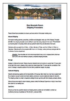 ShippingProcedures