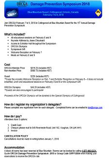 ORCGA Symposium Delegate Package