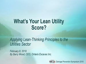 Applying Lean Thinking Concepts to the Utility Sector