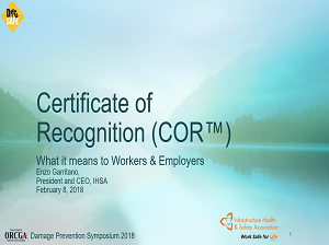 Certificate of Recognition (COR) what it means to workers and employers